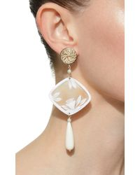 Anna E Alex - Metallic Shell, Silver-plated And Pearl Earrings - Lyst