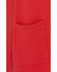 Tibi Red Cashmere Patch Pocket Sweater