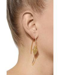 Mizuki - Metallic 14k Nine Diamond Cube Slice Earring - Lyst