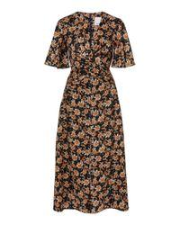 Acler Multicolor Tippet V-neck Split Dress