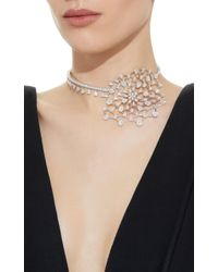 YEPREM White Snowflakes Choker Necklace