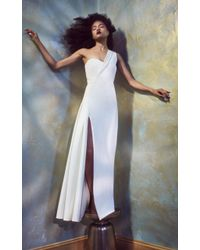 Brandon Maxwell White One Shoulder Gown