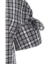 Michael Kors - Black Tie Sleeve Gingham Shirt - Lyst