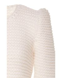 Co. - White Hand Knit Wool Sweater - Lyst