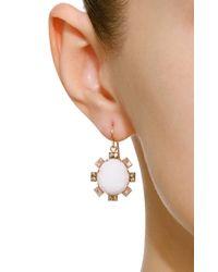 Sylva & Cie - Metallic 14k Rose Gold, Cocholong And Diamond Earrings - Lyst