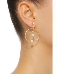 Anissa Kermiche - Metallic M'o Exclusive 14k White Gold, Pearl And Sapphire Earring - Lyst