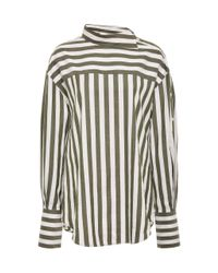 Monse Multicolor Striped Cotton-poplin Shirt