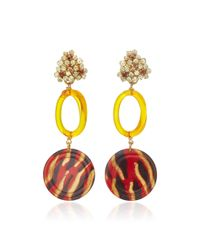 Lulu Frost - Orange M'o Exclusive Vintage Citrine Glass Disc Earrings - Lyst