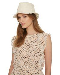 Gigi Burris Millinery Gray Corbin Sewn Bucket Hat