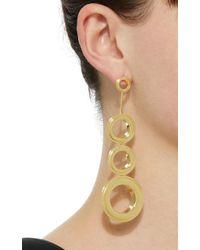 Joanna Laura Constantine - Metallic Gold-plated Grommets Statement Earrings - Lyst