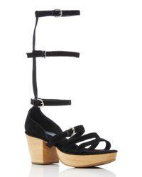 Rachel Comey Black Gable Gladiator Sandal