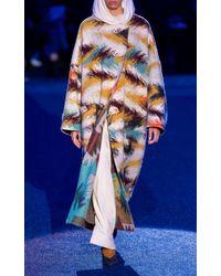 Missoni Multicolor Printed Wool-blend Knit Coat