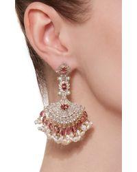 Sanjay Kasliwal - Pink Tourmaline Fringe Earrings - Lyst