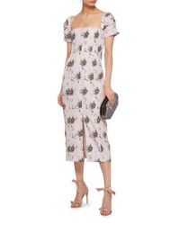 Brock Collection Multicolor Floral Print Day Dress