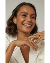 Jemma Wynne - Metallic One Of A Kind White And Canary Diamond Open Ring - Lyst