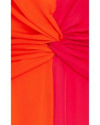 Carolina Herrera Pink V-neck Long Sleeve Dress