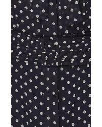 Alexis Black Ivette Ruffled Dot Mini Dress