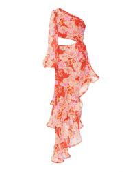 Alexis Multicolor Sabetta One-sleeve Cutout Asymmetric Dress