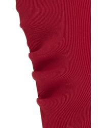 Tori Praver Swimwear Red Royale Mesh Bandeau