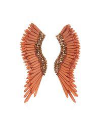 Mignonne Gavigan Brown Mega Madeline Crystal, Sequin 14k Gold-plated Wing Ea