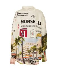 "Monse Multicolor Torn Print """" Shirt"