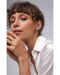 Amrapali - Metallic Kundan 18k Gold And Diamond Hoop Earrings - Lyst