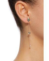 Daniela Villegas - Green Amour 18k Pink Gold, Sapphire, Diamonds And Tsavorite Earrings - Lyst