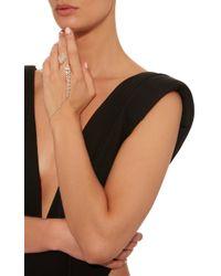 YEPREM - Metallic Diamond Hand Bracelet - Lyst