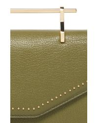 M2malletier Green Studded Leather Indre