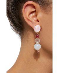 Daria de Koning - Pink Rosé All Day 18k Yellow Gold Multi-stone Earrings - Lyst