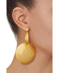 Paula Mendoza - Metallic Tule Gold-plated Brass Earrings - Lyst