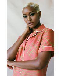 Aliétte Pink Azur Short Sleeve Top