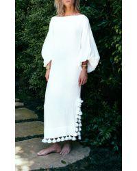 Rhode Resort White Delilah Balloon Sleeve Dress