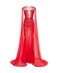 Zuhair Murad Red Nippon Sunrise Gown