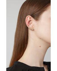 Sophie Bille Brahe Metallic Croissant Claire 18k Gold Diamond Earring