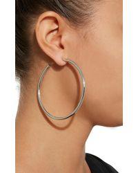 """Jennifer Fisher - Metallic 2.5"""" Gold-plated Hoop Earrings - Lyst"""