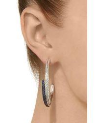 Ralph Masri - Blue Large Layered Diamond And Sapphire Hoops - Lyst