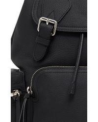 Burberry | Black Rucksack Medium Leather Backpack | Lyst