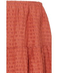 Cult Gaia Orange Nadjia Maxi Skirt