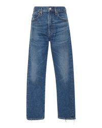 Citizens of Humanity Blue Dree High-rise Slim-leg Crop Jeans