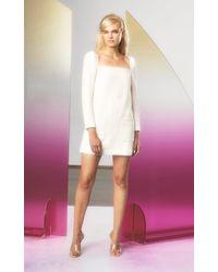 Veronica Beard White Alona Structured Mini Dress