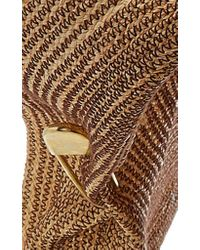 Lola Hats Brown Giga Spinner Safety Pin Raffia Hat