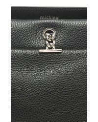 Michino Paris - Black Honore Mm Bag In Grained Leather - Lyst