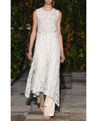 Pascal Millet White Lace Sleeveless A-line Dress