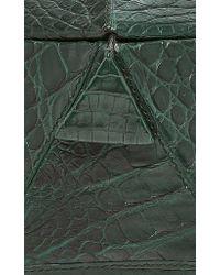 Nancy Gonzalez - Green Hexagon Crocodile Clutch - Lyst