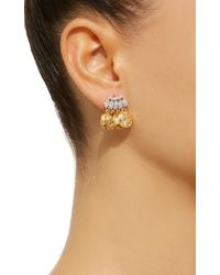 Fallon - White Gold-tone Crystal Monarch Mykonos Earrings - Lyst