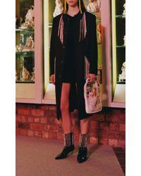 Christopher Kane Black Crystal Fringe Embellished Short Dress
