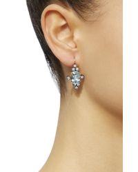 Montse Esteve - Blue 18k Gold, Aquamarine And Diamond Earrings - Lyst