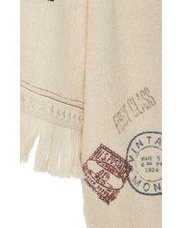 Monse White Print Towel Hoodie