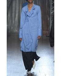 Palmer//Harding Blue Dusk Striped Dress